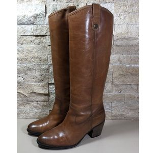Vince Camuto Boots Leather 7 Knee Brown Cognac